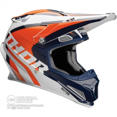 Шлем THOR SECTOR RICOCHET YOUTH NAVY/ORANGE HELMET
